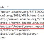 Konfiguration des lokalen Repository