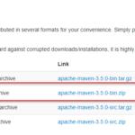 Auswahl des Apache Maven Archivs