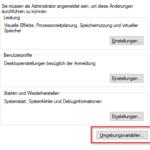 Windows 10 Umgebungsvariablen
